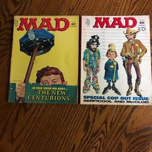 MAD MAGAZINE 2 1970's police issues
